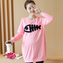 2017 the trend of women's new maternity new coat in the long sleeved T-shirt code in the fall of South Korea