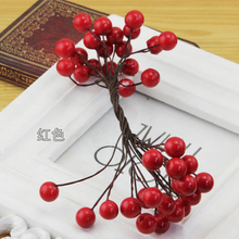 The wind and small cloth handmade accessories small red peony pomegranate fruit pulp simulation fruit flower hairpin DIY materials.