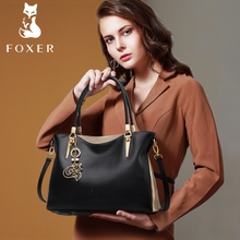 Goldfox bags 2017 autumn new fashion leather Leather Satchel Bag ladies leisure bag