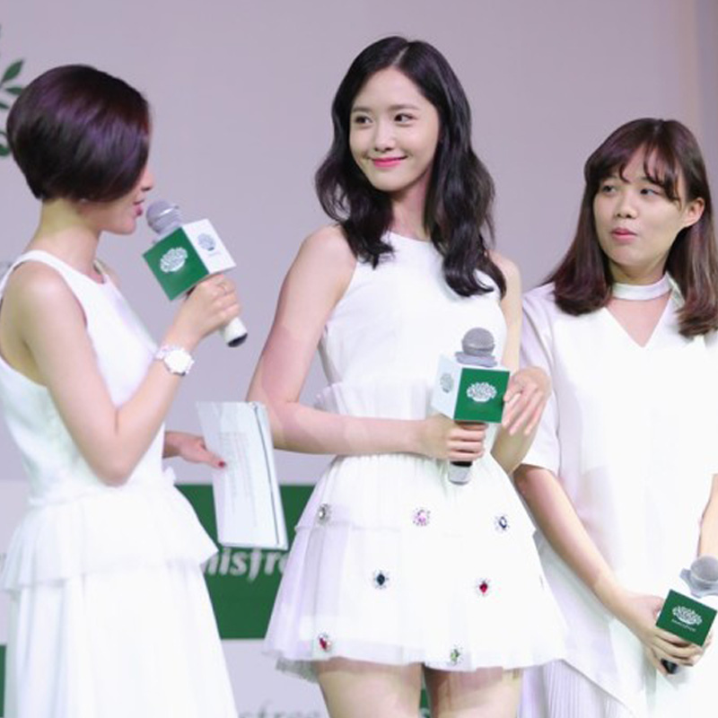Yoona with a paragraph of white short dress, small dress, show slim, self-cultivation evening dress, conference banquet dress dress