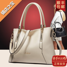 LAORENTOU bags 2017 autumn new fashion leather Leather Satchel Bag ladies leisure bag