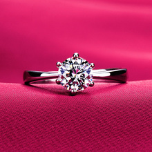 American genuine Mo Sang Shi ring D color female simulation diamond ring wedding jewelry diamond jewelry certificate drill pen