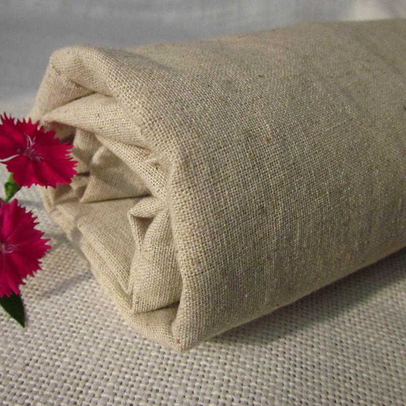 1#亚麻ZAKKA风韩式日式本色棉麻灰色亚麻棉布料手工布清仓半米价