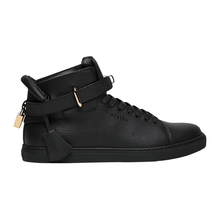 Buscemi2019 autumn and winter cowhide casual shoes men's metal decorative high top shoes black board shoes bsh181011