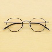 DIT. Retro Ultra Light pure titanium spectacle frame circular frame Circle Art Academy wind small face height myopia spectacle frame