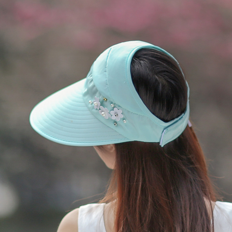 Colorful cotton fisherman hats girls summer collapsible dome Cap visor open tail boom