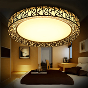 The new nest led ceiling lamp round the living room lamps creative modern minimalist electrodeless dimming restaurant master bedroom lamp