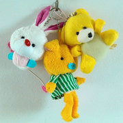 Key buckle bag hanging plush toy small pendant with wings rabbit wearing clothes