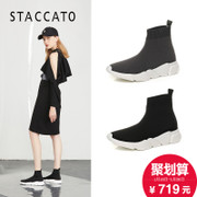 STACCATO / 思加图 2017 autumn sports elastic cloth casual socks boots women's boots L6101CM7