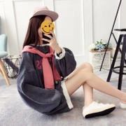 2017 autumn clima women tide thin loose clothing Korean students fall all-match on long sleeved coat