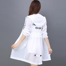 Sun protection clothing female UV protection summer new 2018 long section thin and thin loose thin bf wild coat tide
