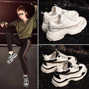 ins sports shoes female Korean ulzzang Harajuku wild students white casual running shoes lightweight shoes super fire
