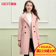 The hair coat, song long thickening of 2017 Korean new slim woolen coat students