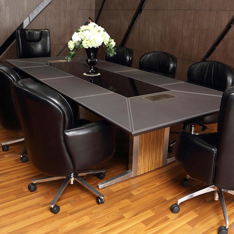 木野办公家具现代简约工作室会议桌长方形创意绘图大班台办公桌