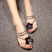 Package mail 2016 summer sweet flowers flat flat bottomed sandals two wear flat sandals slippers sandals slippers beach shoes