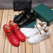 New men's high top shoes in spring and summer 2020 British men's trend casual shoes Buscemi lock shoes