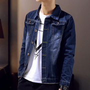 The new spring and autumn tide men's denim jacket jacket young Korean men's casual clothes on Students