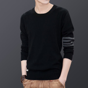 The fall of men long sleeved t-shirt t-shirt shirt sweater knit sweater autumn warm clothing trend of Korean men