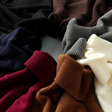 Men's sweater cashmere turtleneck sweater in winter with thick Korean cultivating trend of white black shirt