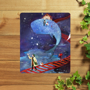 Post illustrations fresh and mouse pad mouse pad girls of art lovers birthday Memorial super thick custom