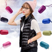 2016 new Korean women lightweight down jacket vest slim collar short Korean parents down vest jacket