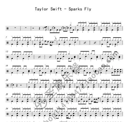 Taylor Swift - Sparks Fly spectrum