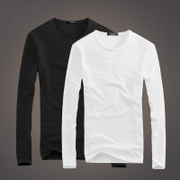 Long sleeved t-shirt men T-shirt white autumn clothes men's color SHIRT MENS tight autumn jacket