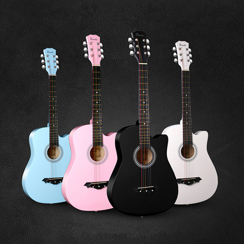 Linda 38 inch guitar playing guitar universal female students beginners entry to practice piano instrument package mail