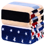 Winter coral fleece blanket flannel blanket students thicker plush bed single single double quilt