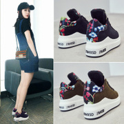 The fall of 2017 new Korean thick white shoe female all-match Harajuku sports shoes increased autumn shoes