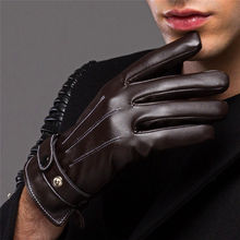 Sweet winter antifreeze mask ride slip leather gloves with windproof ladies cashmere personality half Wuzhi Ms.