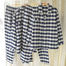 Men's cotton velvet pajamas couple pajamas