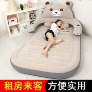 Cartoon inflatable bed lazy sofa bed double bed air cushion bed chinchilla cute portable outdoor thickening