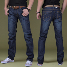 Men's jeans and pants warm winter male cashmere male Korean business casual men's trousers conventional size