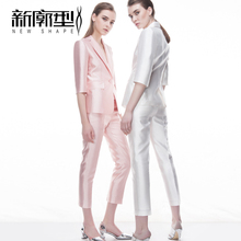 Fashion pink small suit suit women's summer 2018 spring and autumn installed new temperament thin section wear casual suit