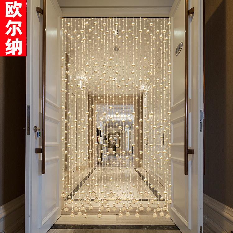 水晶珠帘门帘客厅卧室卫生间厕所玄关风水帘欧式隔断挂帘子成品