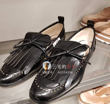 CL'XAENR sale Lolita bow tassel black flat shoes all-match four shoes 6446\201 documentary