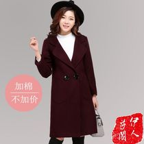 Winter of 2016 new Korean single breasted lapel wool coat slim long women in thick woolen cloth coat