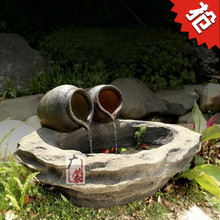Pond water fountain landscape pottery ornaments Home Furnishing Decor villa indoor and outdoor balcony garden ornaments
