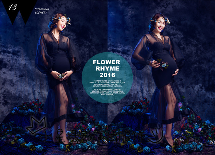 Photo studio pregnant women take pictures photography 2016 theme clothing small pure and fresh and lovely wind pregnant women according to the photo