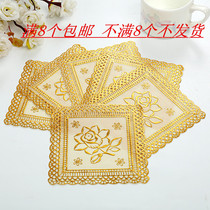 Coaster ashtray pot Western European PVC hot cup pad pad plate fruit plate-hot heat insulation pad mat