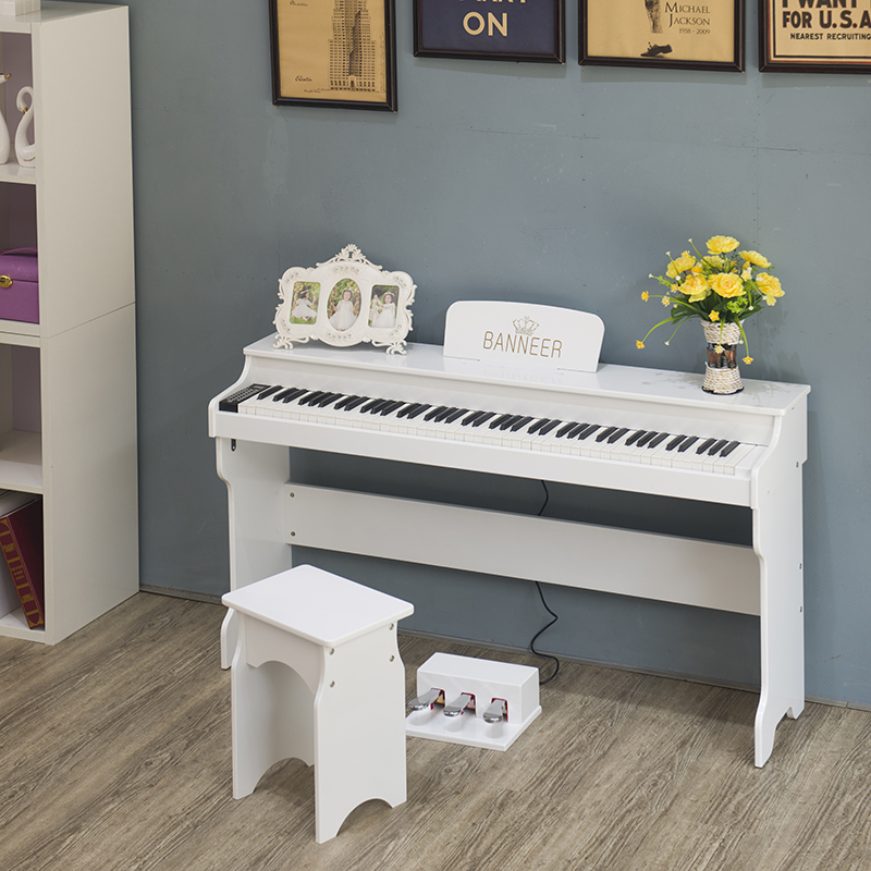 Banel intelligent electronic digital piano, 88 keys counterweight, baking, beginner, adult practice, electric piano feel