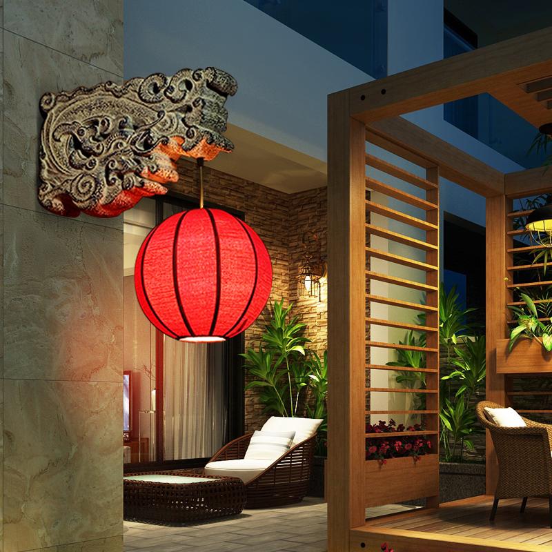 新中式复古典楼梯间餐厅壁灯酒店会所走廊过道楼道户外中国风灯具