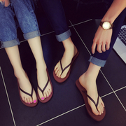 Shipping skid couple flops ferret summer sandals shoes pinch our drag flat soled shoes Beach