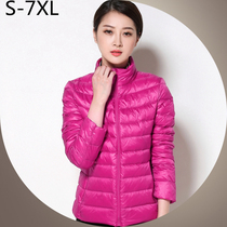 Thin and fat ladies XL oversized middle-aged women short down jacket collar fat mm200 catty specials