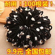 Every day to South Korea Tousheng black rubber special offer simple hair rubber headgear cartoon bow rope