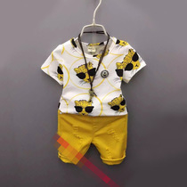 Summer boys summer cotton t-shirts and shorts suit children wear little boy clothes summer tide 3-4-6-7-8 years old