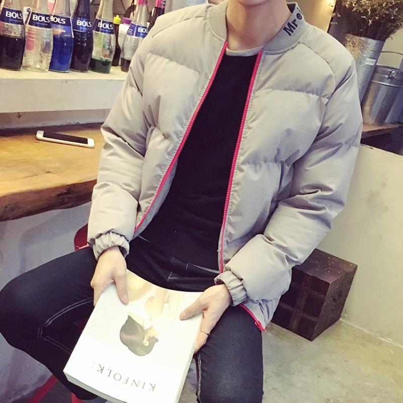 港风冬季男士棉衣潮流韩版青少年连帽加厚羽绒棉服短款棉袄子外套