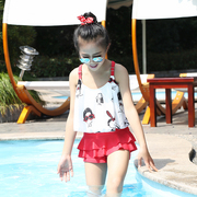 Kids Girls Summer 2017 new swimsuit in child Korean fashion cute children body swimsuit tide