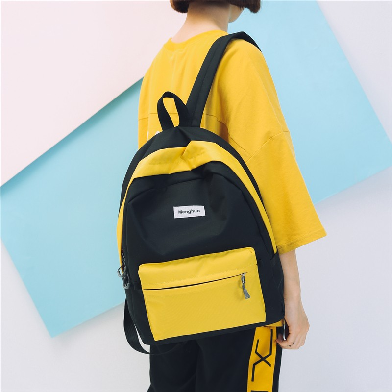 Backpack, Japan and South Korea contracted multi-purpose travel package personality college students wind hitting scene backpack recreation bag lady in junior high school students